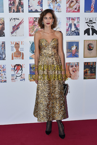 Alexa Chung at the Vogue100 anniversary gala dinner, British Vogue's centenary anniversary party, The East Albert Lawn in Kensington Gardens, Hyde Park, London, England, UK, on Monday 23 May 2016.<br /> CAP/PL<br /> &copy;PL/Capital Pictures