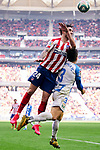 Sime Vrsaljko of Atletico de Madrid and Unai Bustinza of CD Leganes during La Liga match between Atletico de Madrid and CD Leganes at Wanda Metropolitano Stadium in Madrid, Spain. January 26, 2020. (ALTERPHOTOS/A. Perez Meca)