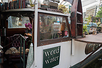 Book barge, Islington, London, England, Great Britain
