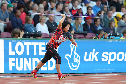 Yuki Ebihara (JPN), <br /> AUGUST 6, 2017 - Athletics : <br /> IAAF World Championships London 2017 <br /> Women's Javelin Throw Qualification <br /> at The London Stadium in London, UK. <br /> (Photo by YUTAKA/AFLO SPORT)