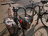 New York NY - 15 May 2009 The sirrus with baskets loaded with groceries outside Fairway.