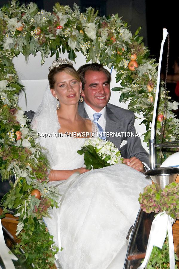 "PRINCE NIKOLAOS AND TATIANA BLATNIK_.The Wedding of Prince Nikolaos and Tatiana Blatnik attended by many members of European Royalty at St Nikolaos Church on the Island of Spetses_Grecce_24/08/2010.Mandatory Credit Photo: ©DIAS-NEWSPIX INTERNATIONAL..**ALL FEES PAYABLE TO: ""NEWSPIX INTERNATIONAL""**..IMMEDIATE CONFIRMATION OF USAGE REQUIRED:.Newspix International, 31 Chinnery Hill, Bishop's Stortford, ENGLAND CM23 3PS.Tel:+441279 324672  ; Fax: +441279656877.Mobile:  07775681153.e-mail: info@newspixinternational.co.uk"