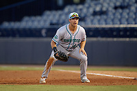 Daytona Tortugas first baseman Bruce Yari (44) during a game against the Tampa Tarpons on April 18, 2018 at George M. Steinbrenner Field in Tampa, Florida.  Tampa defeated Daytona 12-0.  (Mike Janes/Four Seam Images)