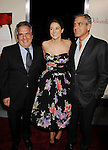 "LOS ANGELES, CA - NOVEMBER 15: Fox Co-Chairman and CEO Jim Gianopulos, Shailene Woodley and George Clooney attend ""The Descendants"" Los Angeles Premiere at AMPAS Samuel Goldwyn Theater on November 15, 2011 in Beverly Hills, California."