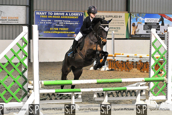 Class 7. British Showjumping Juniors. Brook Farm training centre. Stapleford abbots. Essex. 25/03/2018. ~ MANDATORY CREDIT Garry Bowden/SIPPA - NO UNAUTHORISED USE - +44 7837 394578