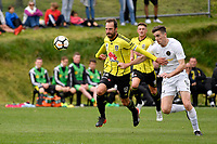 Football - Phoenix v Team Wellington at Martin Luckie Park, Berhampore, Wellington, New Zealand on Saturday 30 September 2017.<br /> Photo by Masanori Udagawa. <br /> www.photowellington.photoshelter.com