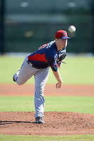 Cleveland Indians pitcher Will Roberts (49) during an instructional league game against the Cincinnati Reds on September 28, 2013 at Goodyear Training Complex in Goodyear, Arizona.  (Mike Janes/Four Seam Images)