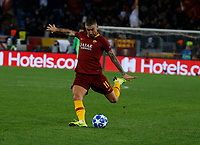 Aleksandar Kolarov of AS Roma  during the Champions League Group  soccer match between AS Roma - Real Madrid  at the Stadio Olimpico in Rome Italy 27 November 2018