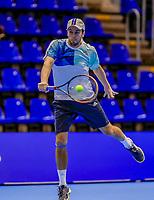 Rotterdam, Netherlands, December 13, 2017, Topsportcentrum, Ned. Loterij NK Tennis,  (NED) Men's doubles : Boy Westerhof   (NED)<br /> Photo: Tennisimages/Henk Koster
