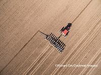 63801-10103 Farmer planting corn-aerial Marion Co. IL