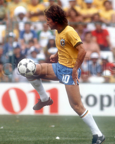 02.07.1982 Barcelona, Spain. Zico (Brasil) on the Ball in the 1982 world cup finals