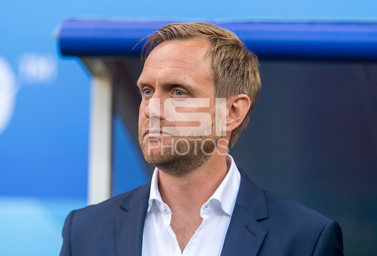 REIMS, FRANCE - JUNE 8: Norwegian head coach Martin Sjogren prior to a 2019 FIFA Women's World Cup match between Norway and Nigeria at Stade Auguste-Delaune on June 8, 2019 in Reims, France.