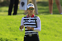 Minjee Lee (AUS) on the 12th green during Friday's Round 2 of The Evian Championship 2018, held at the Evian Resort Golf Club, Evian-les-Bains, France. 14th September 2018.<br /> Picture: Eoin Clarke | Golffile<br /> <br /> <br /> All photos usage must carry mandatory copyright credit (&copy; Golffile | Eoin Clarke)