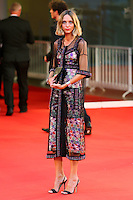 Candela Novembre poses on the red carpet to present the movie 'Spotlight' during the 72nd Venice Film Festival at the Palazzo Del Cinema, in Venice, September 3, 2015. <br /> UPDATE IMAGES PRESS/Stephen Richie