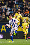 David Zurutuza Veillet (l) of Real Sociedad competes for the ball with Samuel Castillejo Azuaga of Villarreal CF during their Copa del Rey 2016-17 Round of 16 match between Villarreal and Real Sociedad at the Estadio El Madrigal on 11 January 2017 in Villarreal, Spain. Photo by Maria Jose Segovia Carmona / Power Sport Images