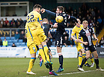 Ross County v St Johnstone&hellip;18.02.17     SPFL    Global Energy Stadium, Dingwall<br />Keith Watson&rsquo;s header hits the arm of a defender but no penalty was awarded<br />Picture by Graeme Hart.<br />Copyright Perthshire Picture Agency<br />Tel: 01738 623350  Mobile: 07990 594431