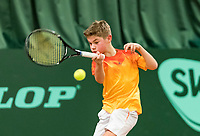 Wateringen, The Netherlands, March 9, 2018,  De Rijenhof , NOJK 12/16 years, Teun Mantel (NED)<br /> Photo: www.tennisimages.com/Henk Koster