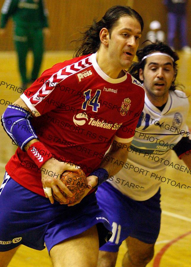 Rukomet, Qualifications, Handball&amp;#xA;Serbia Vs. Israel&amp;#xA;Mladen Bojinovic&amp;#xA;Beograd, 04.01.2007.&amp;#xA;foto: Srdjan Stevanovic<br />