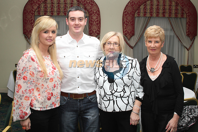 Leanne Hoey, Darren Ryan, Ailish Breen and Winifred Leech at the Charity Event in the Boyne Valley Hotel to raise money for Drogheda Womens Refuge, Drogheda Special Needs and ABACAS...(Photo credit should read Jenny Matthews/www.newsfile.ie)....This Picture has been sent you under the conditions enclosed by:.Newsfile Ltd..The Studio,.Millmount Abbey,.Drogheda,.Co Meath..Ireland..Tel: +353(0)41-9871240.Fax: +353(0)41-9871260.GSM: +353(0)86-2500958.email: pictures@newsfile.ie.www.newsfile.ie.