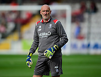 Lincoln City's first team goalkeeping coach Andy Warrington during the pre-match warm-up<br /> <br /> Photographer Andrew Vaughan/CameraSport<br /> <br /> The EFL Sky Bet League One - Lincoln City v Sunderland - Saturday 5th October 2019 - Sincil Bank - Lincoln<br /> <br /> World Copyright © 2019 CameraSport. All rights reserved. 43 Linden Ave. Countesthorpe. Leicester. England. LE8 5PG - Tel: +44 (0) 116 277 4147 - admin@camerasport.com - www.camerasport.com