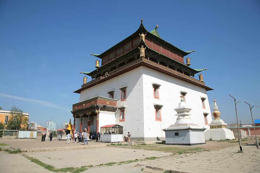 Gandantegchinlen Khiid Monastery Ulaaan Baatar Mongolia