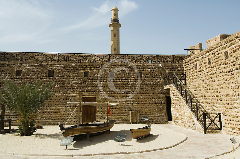 United Arab Emirates, Dubai, Dubai Museum, interior courtyard