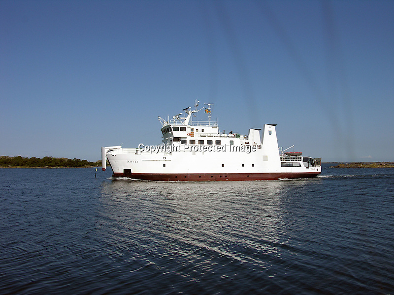 Ferry Boat Skiftet in Åland, Finland