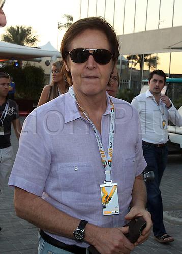 12.11.2011 Abu Dhabi, United Arab Emirates. Grand Prix of Abu Dhabi Sir Paul McCartney GBR Singer  during the qualification round of the Abu Dhabi FIA F1 Grand Prix