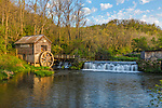 Iowa County, WI: Hyde's Mill on Trout Creek, spring