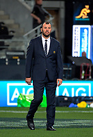 Wallabies coach Michael Cheika during the Rugby Championship and Bledisloe Cup rugby match between the New Zealand All Blacks and Australia Wallabies at Forsyth Barr Stadium in Dunedin, New Zealand on Saturday, 26 August 2017. Photo: Dave Lintott / lintottphoto.co.nz