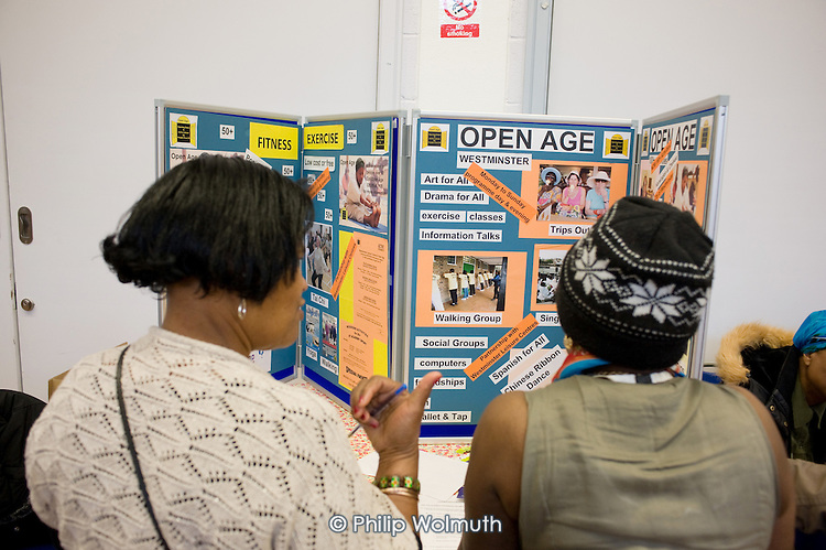 Open day at the Stowe Centre organised by the Open Age project for the over-50s.