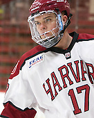 Sean Malone (Harvard - 17) - The Harvard University Crimson defeated the Brown University Bears 4-3 to sweep their first round match up in the ECAC playoffs on Saturday, March 7, 2015, at Bright-Landry Hockey Center in Cambridge, Massachusetts.