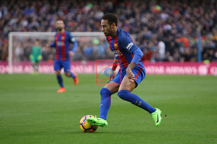League Santander 2016/2017. Game: 21.<br /> FC Barcelona vs Athletic Club: 3-0.<br /> Neymar Jr.