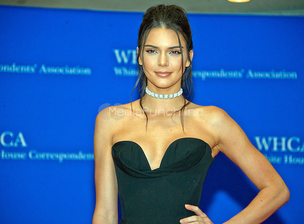 Kendall Jenner arrives for the 2016 White House Correspondents Association Annual Dinner at the Washington Hilton Hotel on Saturday, April 30, 2016.<br /> Credit: Ron Sachs / CNP<br /> (RESTRICTION: NO New York or New Jersey Newspapers or newspapers within a 75 mile radius of New York City)/MediaPunch