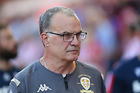 Leeds United manager Marcelo Bielsa takes his place in the dugout<br /> <br /> Photographer Stephen White/CameraSport<br /> <br /> The Premier League - Stoke City v Leeds United - Saturday August 24th 2019 - bet365 Stadium - Stoke-on-Trent<br /> <br /> World Copyright © 2019 CameraSport. All rights reserved. 43 Linden Ave. Countesthorpe. Leicester. England. LE8 5PG - Tel: +44 (0) 116 277 4147 - admin@camerasport.com - www.camerasport.com