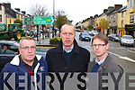 Cllr Bobby O'Connell with Cormac O'Mahony and Jeremy Burke from the Castleisland bypass committee who were disgusted to hear that the bypass will not go ahead this year on Wednesday   Copyright Kerry's Eye 2008