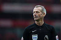 Referee Martin Atkinson <br /> <br /> Photographer Craig Mercer/CameraSport<br /> <br /> The Premier League - Sunday 11th March 2018 - Arsenal v Watford - The Emirates - London<br /> <br /> World Copyright &copy; 2018 CameraSport. All rights reserved. 43 Linden Ave. Countesthorpe. Leicester. England. LE8 5PG - Tel: +44 (0) 116 277 4147 - admin@camerasport.com - www.camerasport.com