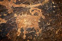 4415 / Widder: AMERIKA, VEREINIGTE STAATEN VON AMERIKA, UTAH,  (AMERICA, UNITED STATES OF AMERICA), 27.05.2006:  Widder als Steinzeichnung, Parowan Gap, Petroglyphs,