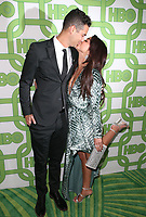 BEVERLY HILLS, CA - JANUARY 6: Wells Adams and Sarah Hyland at the HBO Post 2019 Golden Globe Party at Circa 55 in Beverly Hills, California on January 6, 2019. <br /> CAP/MPIFS<br /> ©MPIFS/Capital Pictures