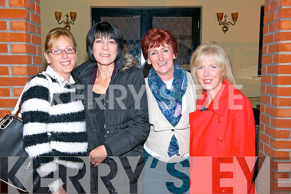 Angela Griffin, Maura O'Connor, Marie Fitz, from Dingle and Catherine Horgan from Charleville enjoying the Set Dancing Ceili in Darby O'Gills in Killarney last Friday night.