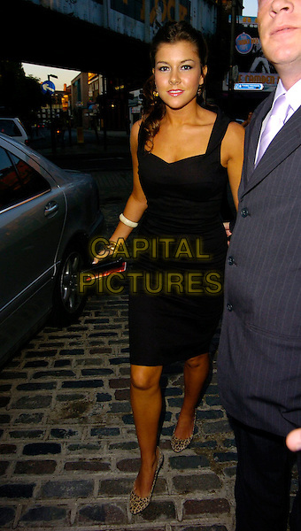 IMOGEN THOMAS.The BB7 wrap party, Gilgamesh restaurant, London, UK..August 21st, 2006.Ref: CAN.Big Brother full length black dress leopard print shoes.www.capitalpictures.com.sales@capitalpictures.com.©Can Nguyen/Capital Pictures
