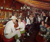 Bit & Bridle, Stony Creek, NY. Couples enjoying the music in the cowboy bar.