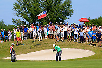 Sepp Straka (AUT) in action during the final round of the Lyoness Open powered by Organic+ played at Diamond Country Club, Atzenbrugg, Austria. 8-11 June 2017.<br /> 11/06/2017.<br /> Picture: Golffile | Phil Inglis<br /> <br /> <br /> All photo usage must carry mandatory copyright credit (&copy; Golffile | Phil Inglis)