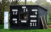 Scottish National Cricket League, Premier Div - Dunfermline CC V Aberdeenshire CC, at McKane Park, Dunfermline - A man in his element - legendary Dunfermline (and occassional Scotland) scorer Ken Nisbet - Picture by Donald MacLeod 25.04.10 - mobile 07702 319 738