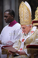 Epiphany mass Benedict XVI in Saint Peter's Basilica at the Vatican.Jan 6, 2011