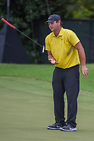 Patrick Reed (USA) flips his putter in reaction to missing his birdie attempt on 12 during round 2 of the 2019 Tour Championship, East Lake Golf Course, Atlanta, Georgia, USA. 8/23/2019.<br /> Picture Ken Murray / Golffile.ie<br /> <br /> All photo usage must carry mandatory copyright credit (© Golffile | Ken Murray)
