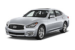 2015 Infiniti Q70 Premium 4 Door Sedan 2WD Angular Front stock photos of front three quarter view