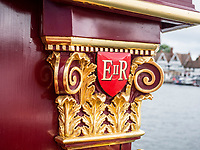 Henley Royal Regatta, Henley on Thames, Oxfordshire, 28 June - 2 July 2017.  Wednesday  11:52:42   28/06/2017  [Mandatory Credit/Intersport Images]<br /> <br /> Rowing, Henley Reach, Henley Royal Regatta.<br /> Details from The Royal Row Barge GLORIANA