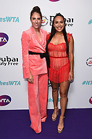 Johanna Konta and Heather Watson<br /> arriving for the WTA Summer Party 2019 at the Jumeirah Carlton Tower Hotel, London<br /> <br /> ©Ash Knotek  D3512  28/06/2019