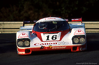 LE MANS, FRANCE: The Porsche 956 007 of Nick Mason, René Metge and Richard Lloyd is driven during the 24 Hours of Le Mans at Circuit de la Sarthe in Le Mans, France, on June 17, 1984.